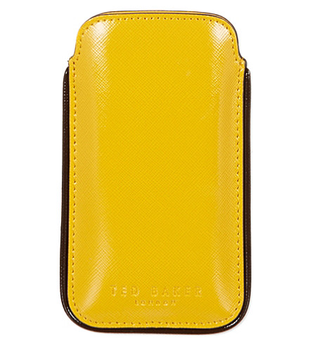 TED BAKER Highlight detail phone case (Yellow