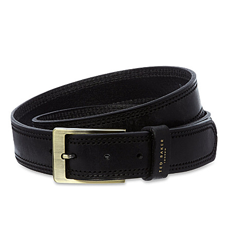 TED BAKER Crikitt cricket stitch belt (Black