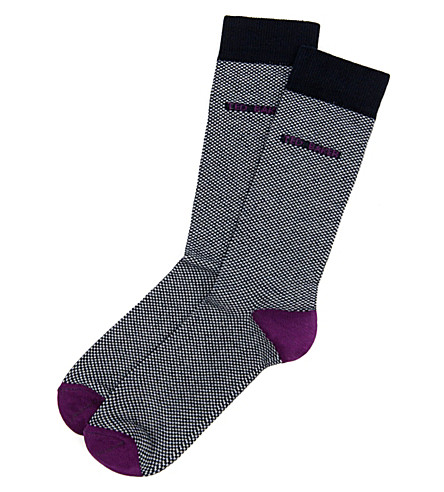 TED BAKER Soflite Oxford socks (Navy