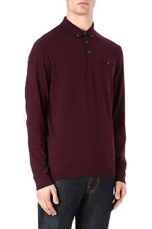 TED BAKER Fleamar long-sleeved polo shirt