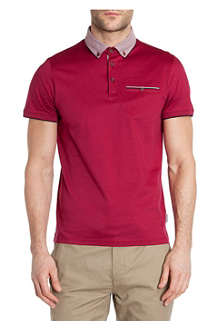 TED BAKER Printed-collar polo shirt