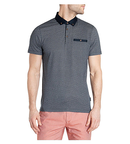 TED BAKER Elwhite polo shirt (Navy