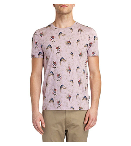 TED BAKER Lazoo parrot print T-shirt (Lilac