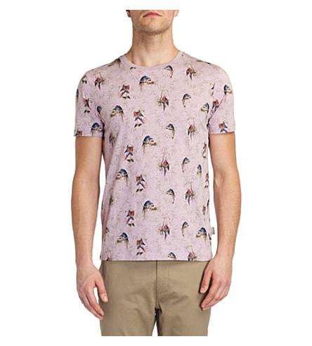 TED BAKER Lazoo parrot print T-shirt (Lilac