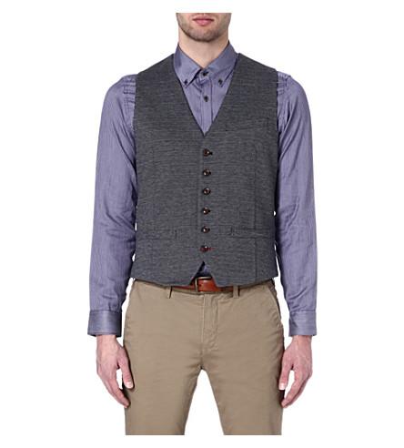 TED BAKER Peasful jacquard waistcoat (Navy