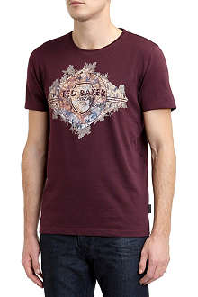TED BAKER Map graphic cotton t-shirt