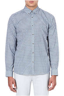 TED BAKER Single-cuff diamond print shirt