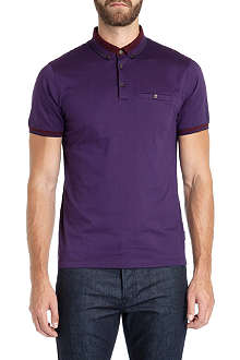 TED BAKER Daylea striped collar polo