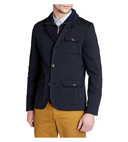TED BAKER Thatjak zip-through jacket (Navy