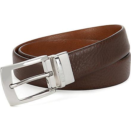 TED BAKER Bluez smart reversible belt (Chocolate
