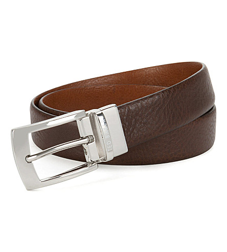 TED BAKER Bluez smart reversible belt (Chocolate