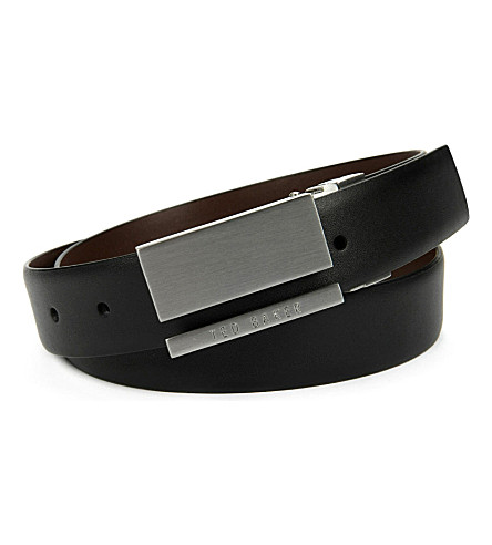 TED BAKER Ventilo smart reversible belt (Black
