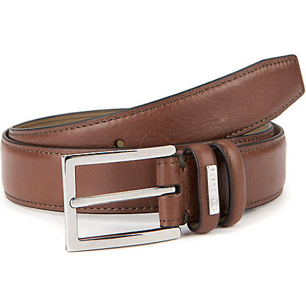 TED BAKER Jollent leather formal belt (Chocolate