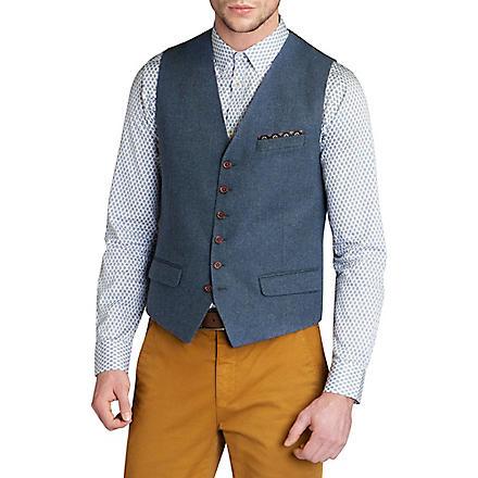 TED BAKER Kawewai wool-blend waistcoat (Blue