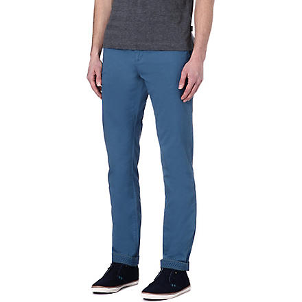 TED BAKER Bowman classic cotton chinos (Blue