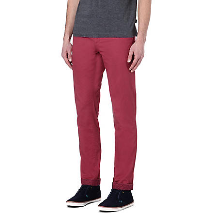 TED BAKER Bowman classic cotton chinos (Pink