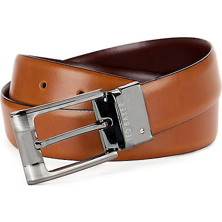 TED BAKER Crafti reversible belt (Tan