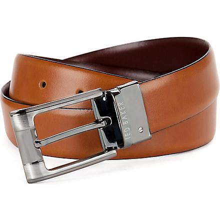 TED BAKER Crafti reversible belt (Tan
