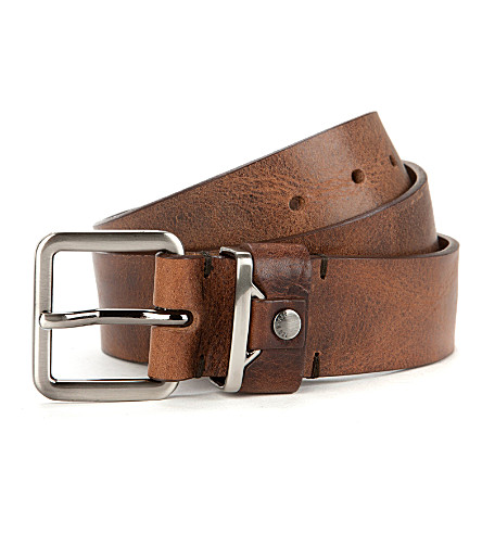 TED BAKER Katchit metal keeper rivet belt (Tan