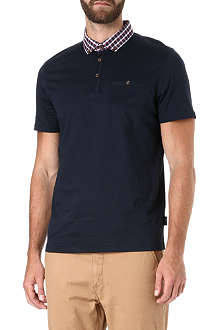 TED BAKER Stokken check collar polo shirt