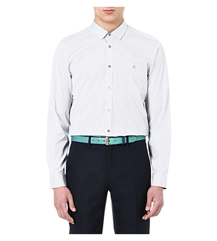 TED BAKER Glasto striped shirt (Blue