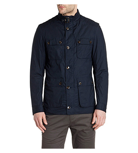 TED BAKER Orynew wax cotton coat (Navy