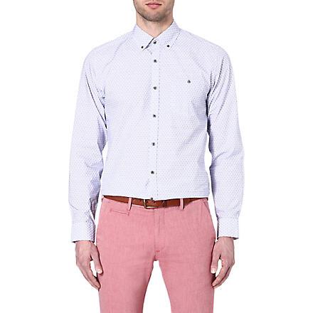TED BAKER Oakshir geo print shirt (Blue