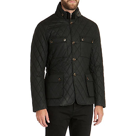 TED BAKER Kemond diamond quilted jacket (Black