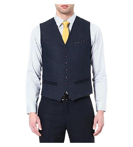 TED BAKER Textured waistcoat (Navy