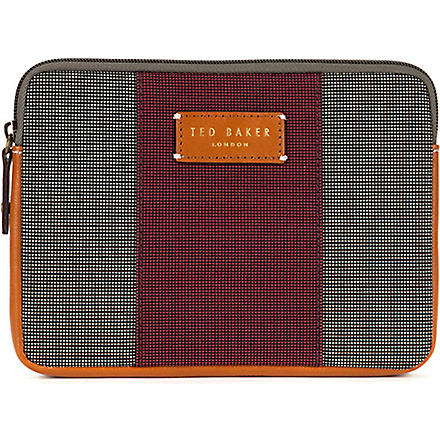 TED BAKER Stripe mini tablet case (Charcoal