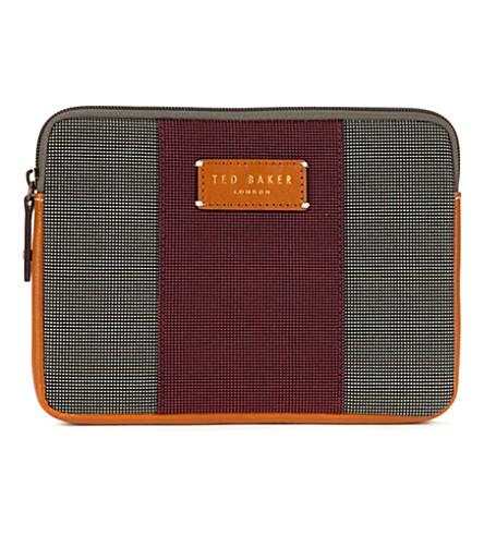 TED BAKER Stripe mini tablet case (Charcoal