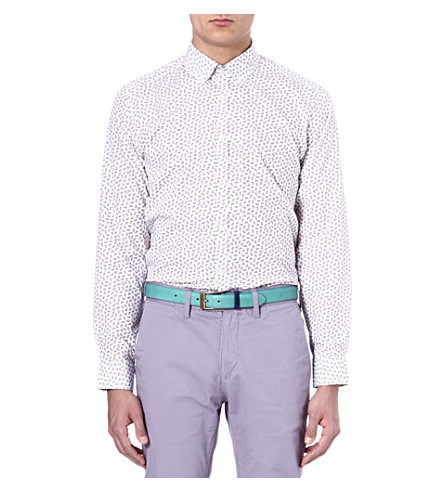 TED BAKER Paisley printed shirt (White