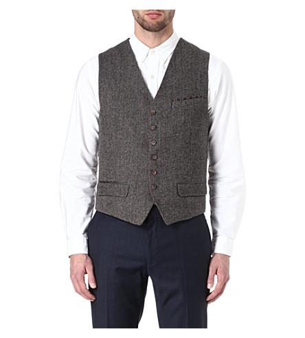 TED BAKER Wool-blend waistcoat (Brown