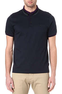 TED BAKER Daylea striped-collar polo shirt