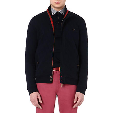 TED BAKER Valylow quilted jersey jacket (Navy