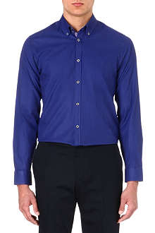 TED BAKER Cotton polka-dot shirt