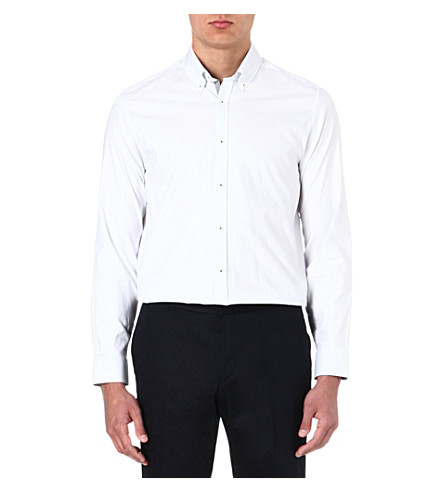 TED BAKER Cotton polka-dot shirt (White