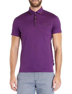 TED BAKER Grainyo cotton polo shirt