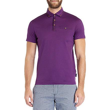 TED BAKER Grainyo cotton polo shirt (Purple