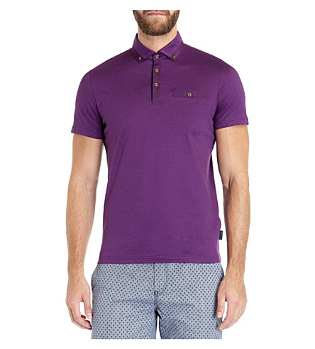 TED BAKER Grainyo cotton polo shirt (Purple