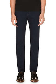 TED BAKER Slim-fit tapered blue denim jeans