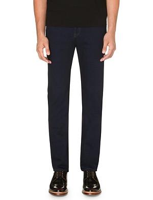 TED BAKER Slim-fit tapered blue denim jeans