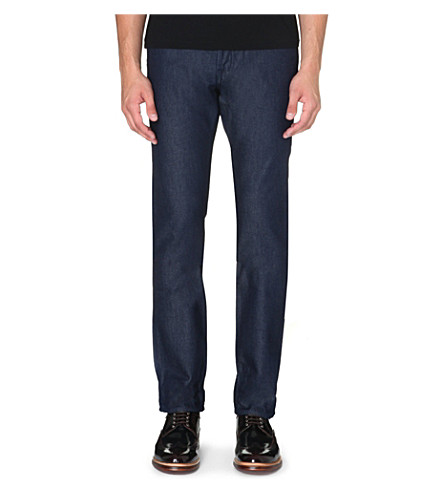 TED BAKER Slim-fit tapered denim jeans (Teal