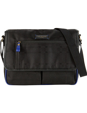 TED BAKER Blumon checked messenger bag