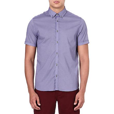 TED BAKER Short-sleeved printed shirt (Blue