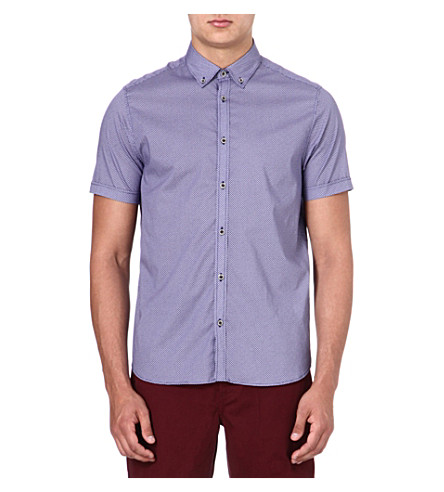 TED BAKER Short-sleeved printed shirt (Blue
