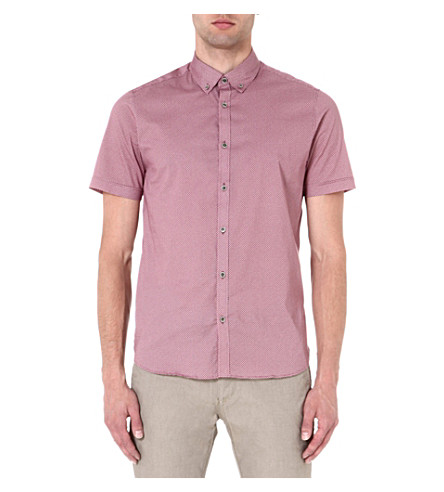 TED BAKER Short-sleeved printed shirt (Red