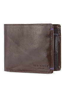 TED BAKER Provols Bright bifold coin wallet