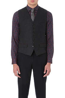TED BAKER Cerswai printed-back waistcoat