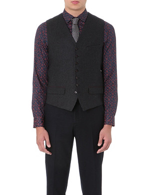 TED BAKER Cerswai printed-back waistcoat